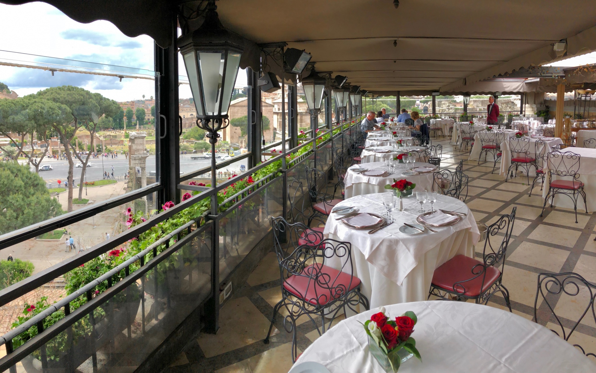 Buffet Lunch Roof Garden Hotel Forum Rome